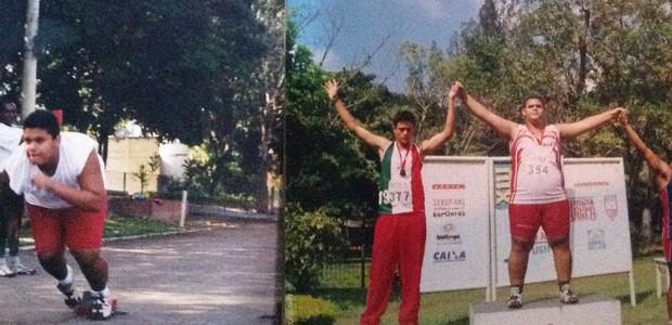 Alain pratica esportes desde criança. Mesmo assim, sempre esteve acima do peso (Foto: Arquivo pessoal)