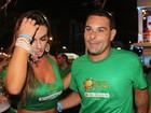 Nicole Bahls curte carnaval ao lado do ex de Ana Maria Braga