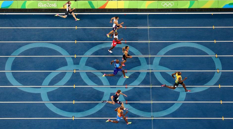 Usain Bolt na prova de 200m, na Rio2016: recorde selfies (Foto: Rio2016)