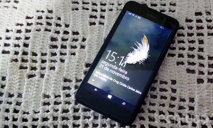 Lumia 630 permite salvar capturas de tela em poucos passos (Foto: Elson de Souza/TechTudo)