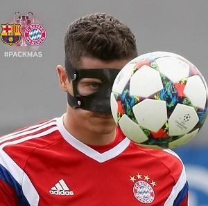 Lewandowski máscara Bayern de Munique