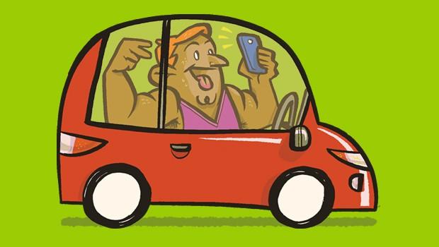Manias no carro - Fazer selfies (Foto: André Valente/Autoesporte)