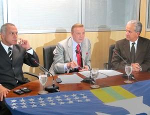 Aristeu Tavares, Marin e Edson Resende, CBF (Foto: Marcelo Baltar / Globoesporte.com)