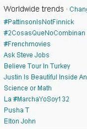 Trending Topics no mundo, 13h49 (Foto: Reprodução)