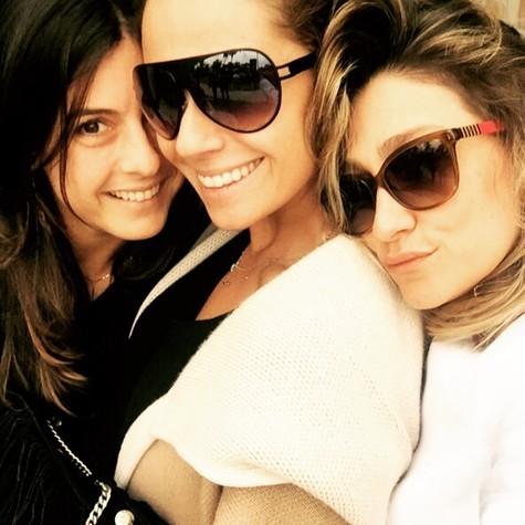 Joana Jabace, Giovanna Antonelli e Amora Mautner (Foto: Arquivo pessoal)