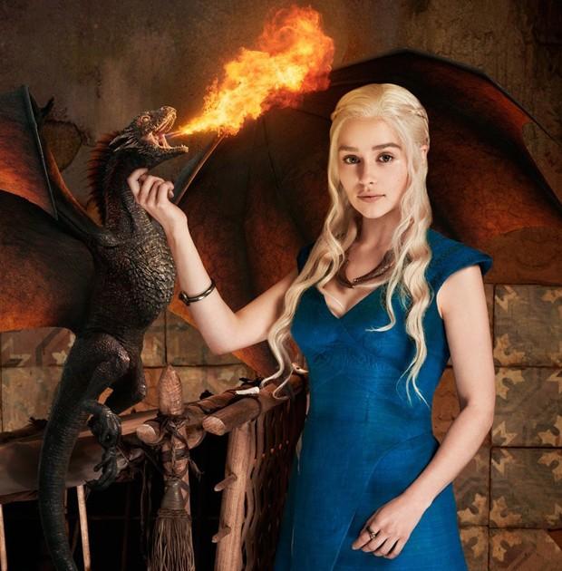 Emilia Clarke como Daenerys em 'Game of Thrones' (Foto: Reprodução)