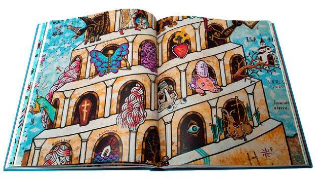 Detalhe de obra do artista publicada no livro (Foto: Divulgação)
