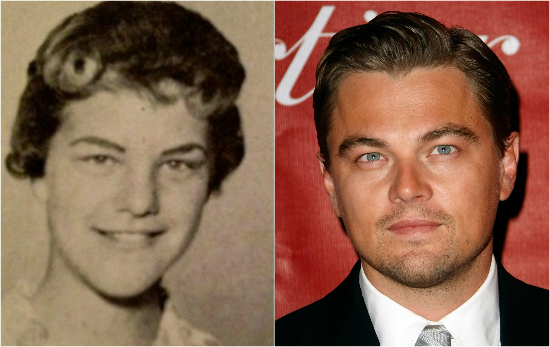 Leonardo DiCaprio e essa recém-formada dos anos 60 chamada Judy Zipper. (Foto: Reprodução e Getty Images)