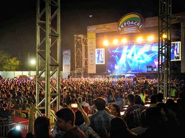 Polícia diz que primeira noite de show foi tranquila (Foto: Junior Aguiar/ Secom Acre)