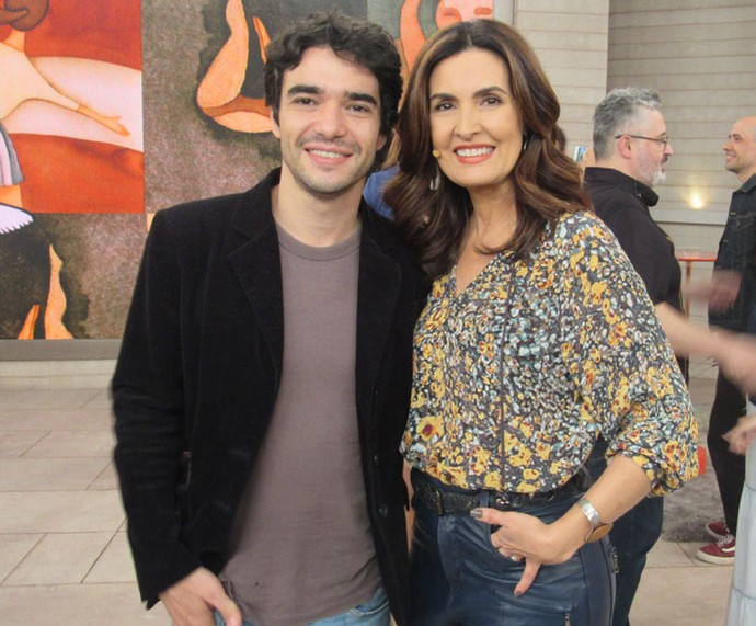 O ator Caio Blat com a Fátima  (Foto: Larissa Moggi/Gshow)