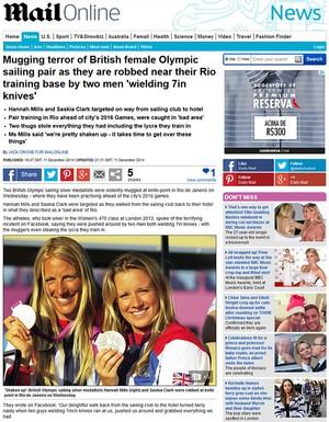 Saskia Clark e Hannah Mills (Foto: Reprodução Daily Mail)
