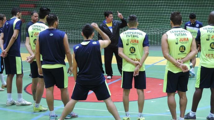 Dracena treino Liga Paulista de Futsal (Foto: Murilo Rincon / GloboEsporte.com)
