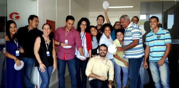 Jornalista reunidos no café da manhã da TV Gazeta  (Foto: Divulgação/ Marketing TV Gazeta)