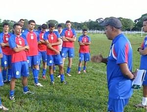 Araguaína treina para jogo contra o TEC (Foto: Reprodução/TV Anhanguera)