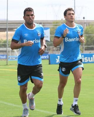 Grêmio Giuliano Maicon treino Grêmio (Foto: Eduardo Deconto/GloboEsporte.com)