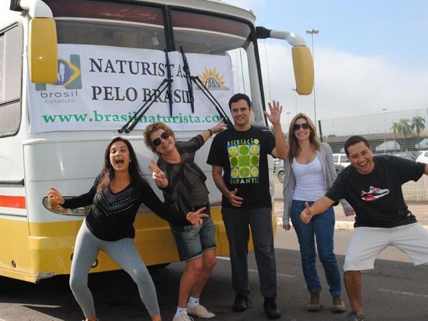 Excursão Naturistas pelo Btasil, viagem de motor home feita por um grupo de nudistas (Foto: Divulgação/Portal Brasil Naturista)