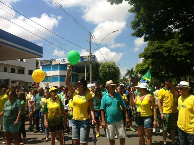 Manifestação reuniu sete mil pessoas, segundo PM e organziadores (Foto: Michelly Oda / G1)