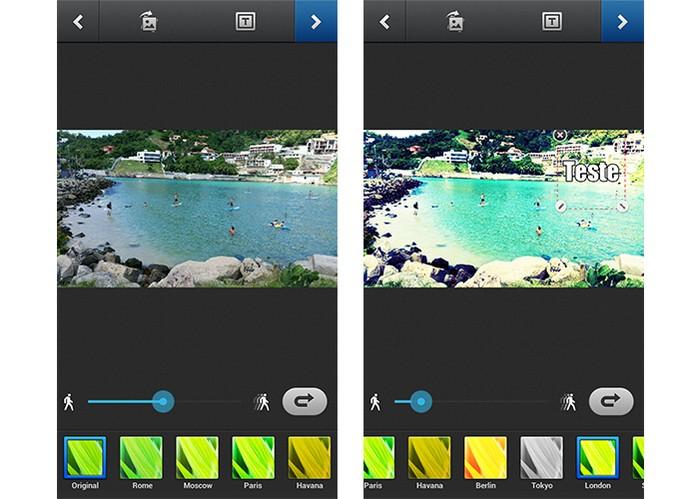 App GIFBoom tem diversos filtros para adicionar (Foto: Reprodução/Barbara Mannara)