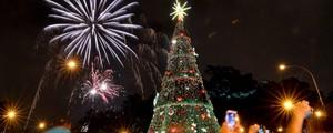Árvore de Natal é inaugurada  no Ibirapuera, em São Paulo (Levi Bianco/Brazil Photo Press/Estadão Conteúdo)