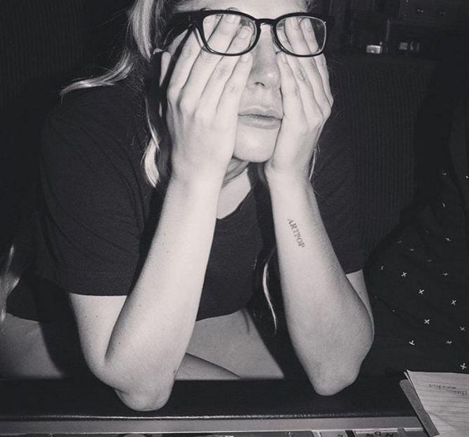 Lady Gaga no estúdio (Foto: Reprodução/Instagram)