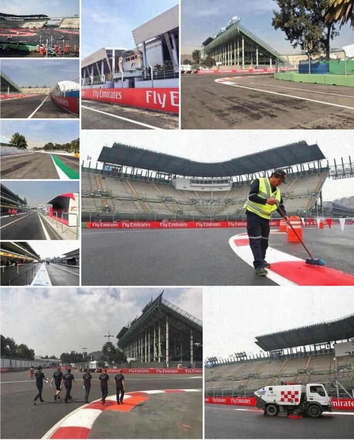 Mosaico Autódromo Hermanos Rodriguez Cidade do México palco GP do México de F-1 (Foto: Reprodução/Twitter)
