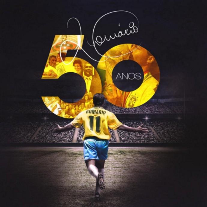 Romário - 50 anos (Foto: Reprodução/Twitter)