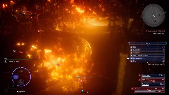 Abuse de itens de cura em Final Fantasy XV (Foto: Reprodução/Murilo Molina)