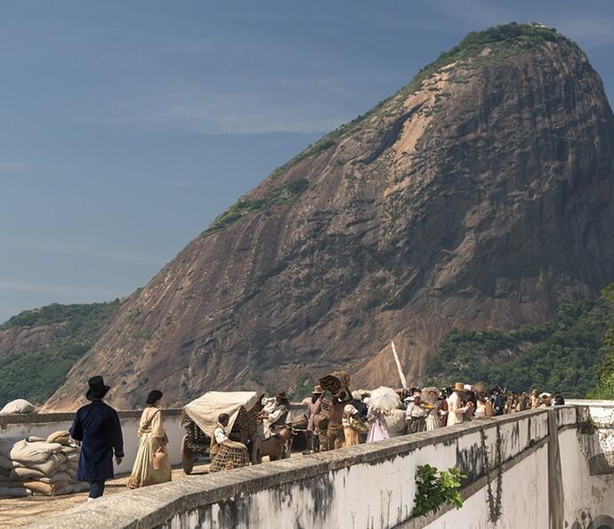 Forte de São João, na Urca, se transformou no Brasil do período colonial (Foto: Fabiano Battaglin/Gshow)