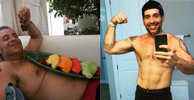 Leandro Hassum antes e depois (Foto: Reprodução/Instagram)