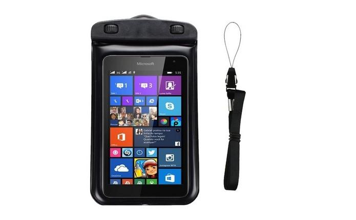 Capa à prova dágua para Microsoft Lumia 535 (Foto: Divulgação/ Underbody)