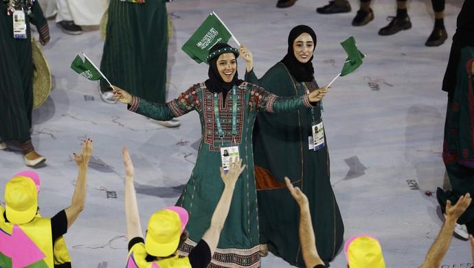 Arábia Saudita mulheres Rio 2016 (Foto: Reuters)