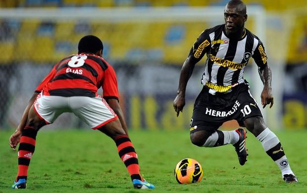Elias e Seedorf Flamengo x Botafogo (Foto: Fabio Castro / Ag. Estado)