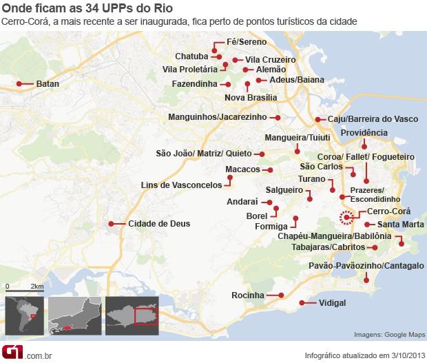 Conjunto de Favelas do Lins terá UPP (Foto: Editoria de Arte/ G1)