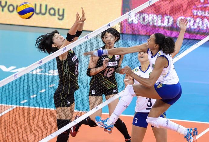 Juciely Brasil x Japão Grand Prix vôlei (Foto: Divulgação / FIVB)