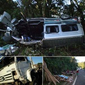 Número de mortos em acidente no Paraná sobe para 15, afirma polícia (Foto: Radiodifusão Campo Aberto / Laranjeiras do Sul)