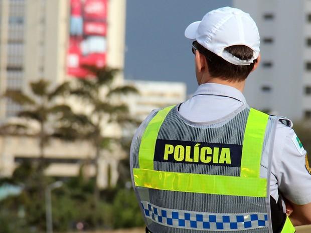 Policial militar acompanha operação da corporação em Brasília (Foto:  André Gustavo Stumpf/Polícia Militar)