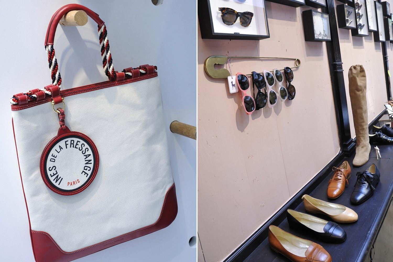 Bolsas, sapatos e óculos de Inès de la Fressange (Foto: Reprodução/WWD)
