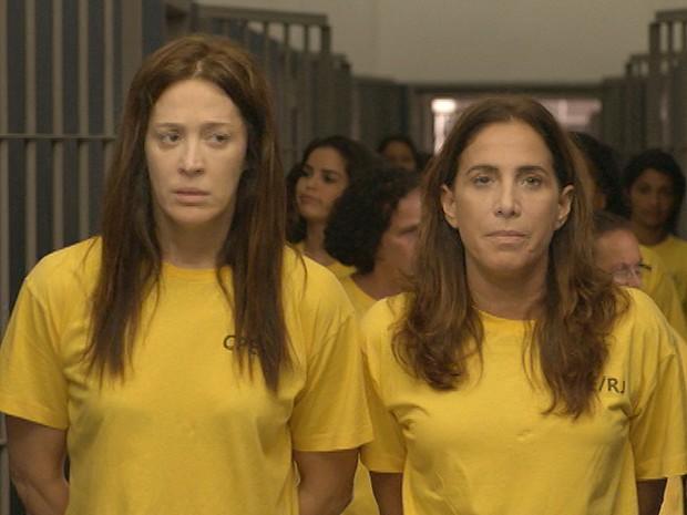 Lívia e Wanda viram colegas de cela (Foto: Salve Jorge/TV Globo)