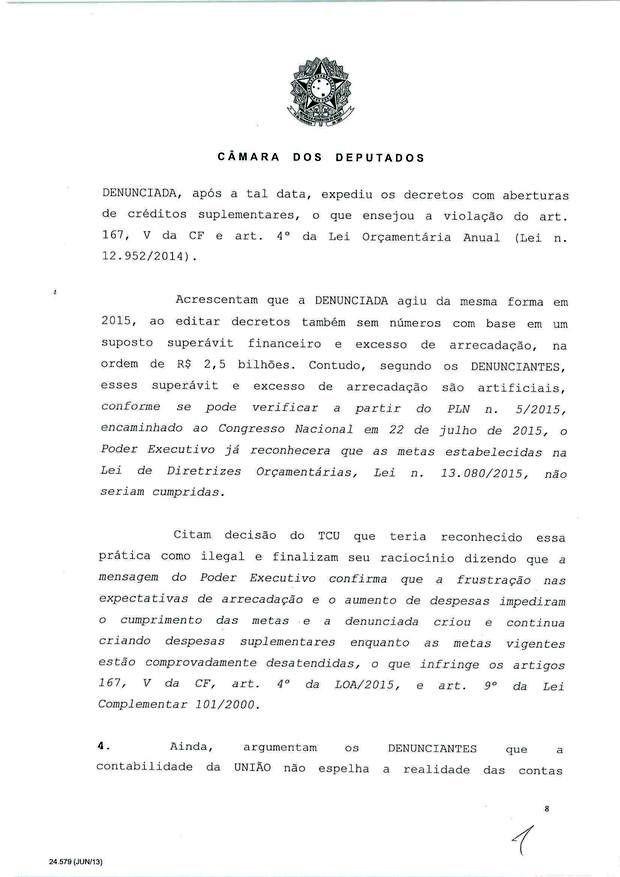 8 - Leia íntegra da decisão de Cunha que abriu processo de impeachment (Foto: Reprodução)
