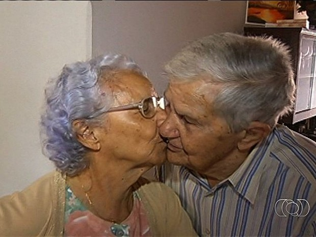Eles estão casados há 75 anos, em Jataí, Goiás (Foto: Reprodução/ TV Anhanguera)