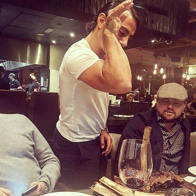 Chef sensação da internet com Leonardo DiCaprio (Foto: Reprodução/Instagram)