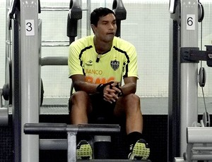 Dudu Cearense no treino do Atl&#233;tico-MG na academia (Foto: Lucas Catta Pr&#234;ta / GLOBOESPORTE.COM)