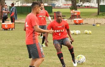 Juan treina com bola no Fla e fica à disposição do técnico Zé Ricardo