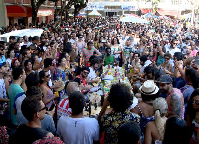 Mar de gente tomou conta do Centro de Vitória (Foto: Divulgação/ TV Gazeta)