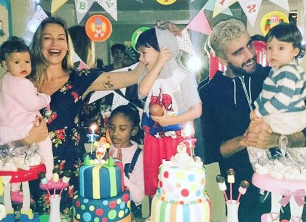 Luana Piovani e Pedro Scooby comemoração aniversário dops filhos gêmeos, Bem e Liz (Foto: Reprodução/Instagram)