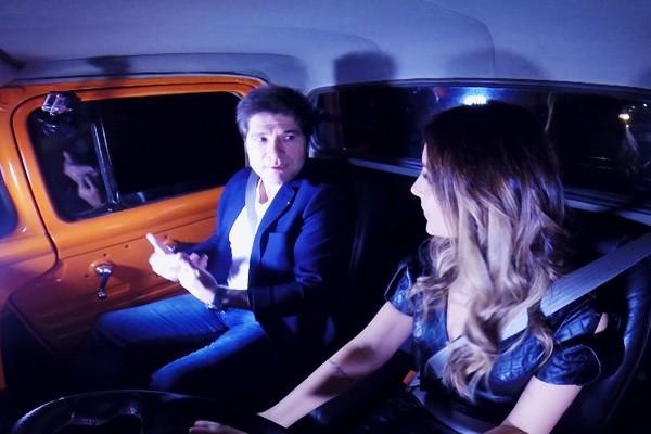 Cecília Ribeiro deu uma Carona para o cantor Daniel em Patos de Minas (Foto: Reprodução Carona)