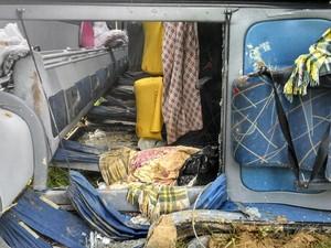 Pasageiros feridos foram encaminhados para São João Del Rei (Foto: Vinícius Martins/ Arquivo Pessoal)