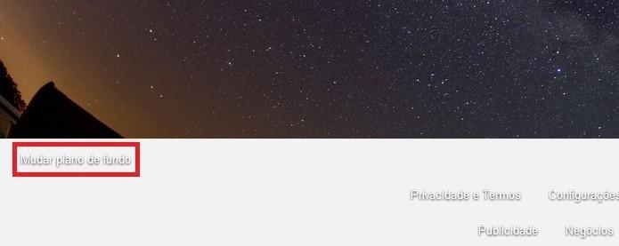 Link para mudar plano de fundo do Google em destaque (Foto: Reprodução/Raquel Freire)