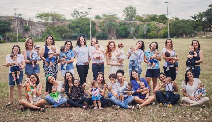 As mamães com os filhotes (Foto: Foto: Julia Gabriela)