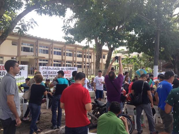 Saúde, agentes de endemias, agentes comunitários, macapá, (Foto: Fabiana Figueiredo/G1)